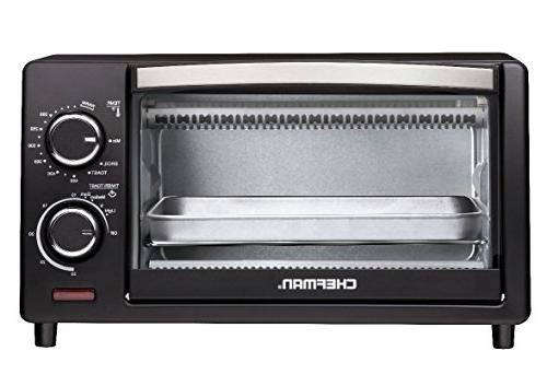 Chefman Toaster w/ Variable Temperature Control and 30 Minute Cooking to and Black