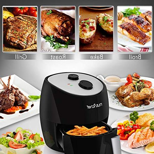 Electric Air Cooker - High Power Oilless Hot Toaster Convection Cooker 3L Non Stick Fry Roast Grill -