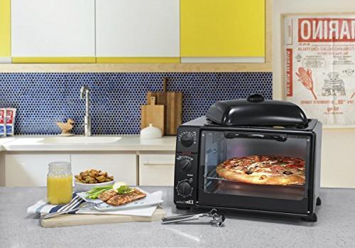 Elite Cuisine ERO-2008S Toaster Bake, Grill, Toast, Keep Capacity fits Pizza, 6-Slice,