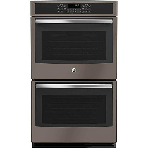 """Ge - 30"""" Built-in Double Electric Convection Wall Oven - Sla"""