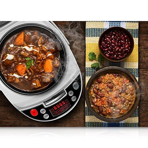 NutriChef Electric Cooker - Countertop with Preset Cooking Display