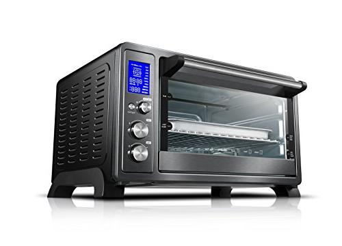 Toshiba AC25CEW-BS Digital oven with Convection/Toast/Bake/Broil 6-Slice Bread/12-Inch Pizza Black Steel