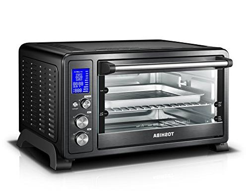 Toshiba Digital with Convection/Toast/Bake/Broil Bread/12-Inch Black Stainless Steel