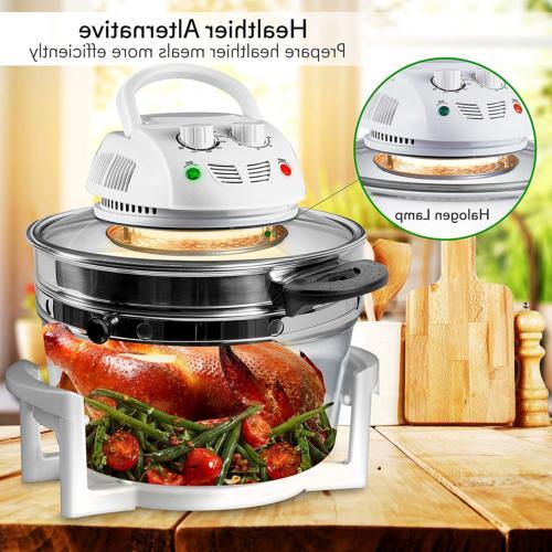 NutriChef Air Fryer, Convection Oven, Halogen Countertop,