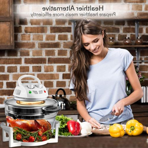 NutriChef Air Convection Oven, Halogen Oven Countertop, Healthy