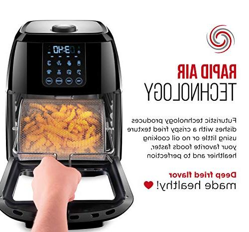 Chefman Digital Air Fryer+ Rotisserie, Dehydrator, 8 Presets to Fry, & More, Accessories
