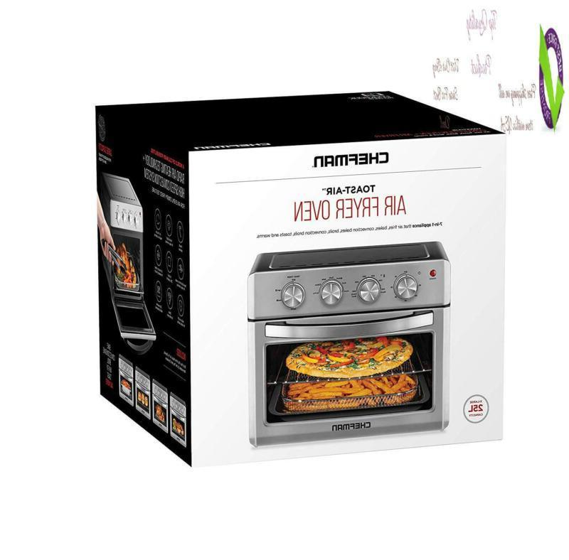Chefman Oven, Slice, 25 Liter Convection Airfryer Auto