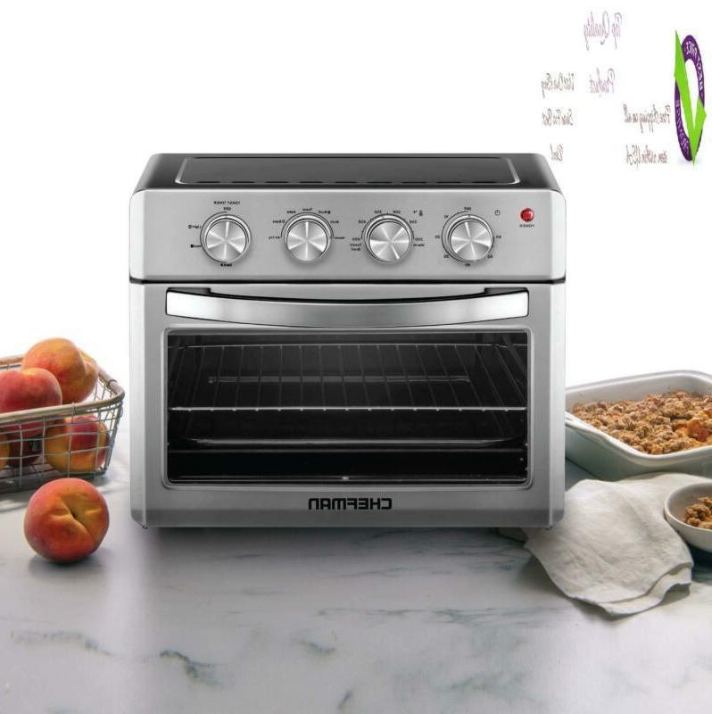 Chefman Air Fryer Oven, 6 Slice, 25 Liter Convection Airfryer Auto