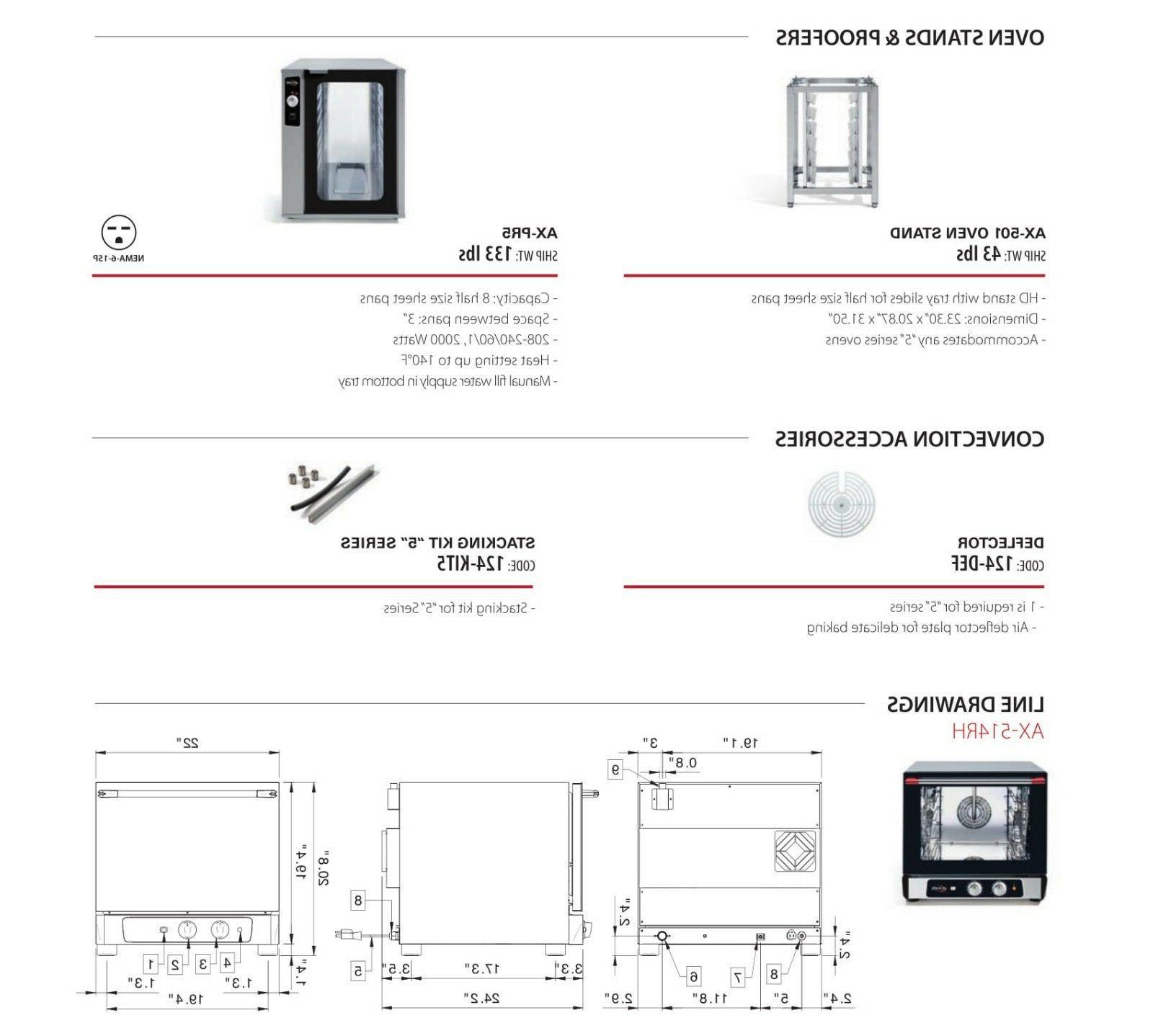 Axis Countertop size Manual Controls