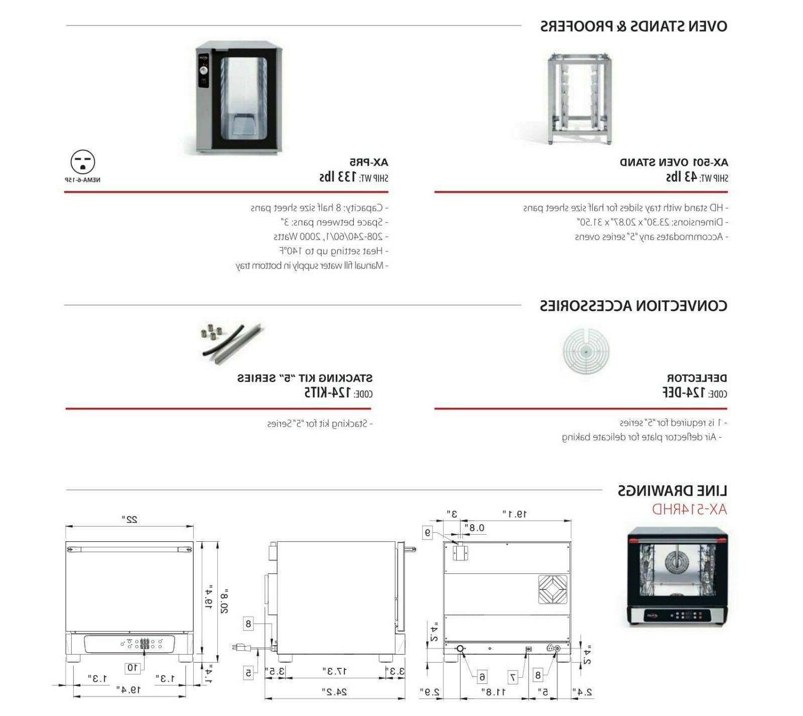 Oven 1/2 Humidity Controls