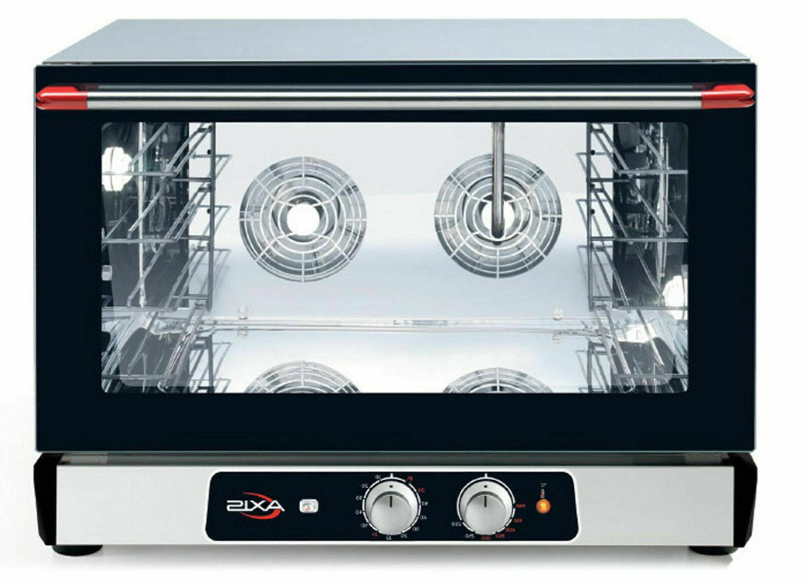 axis ax 824rh convection oven countertop full