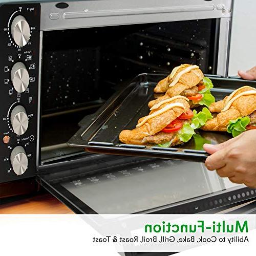 Nutrichef Kitchen - Electric Toaster Oven Cooker with Food Warming Hot 30+