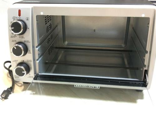 BLACK & DECKER 6-Slice Countertop Pizza Toaster Oven TO1950SBD