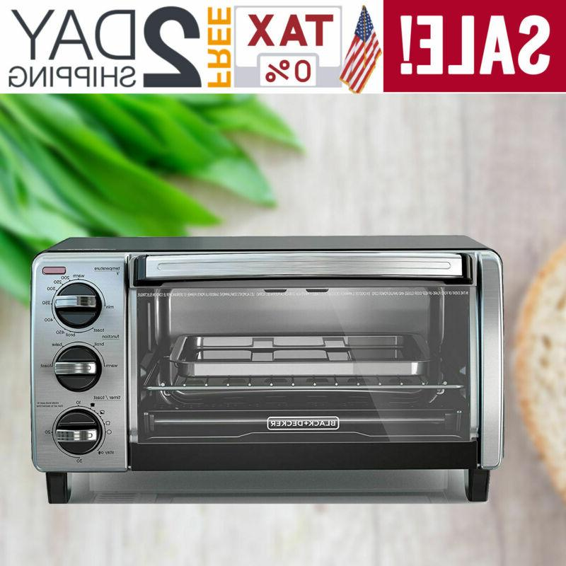 black decker 4 slice toaster oven
