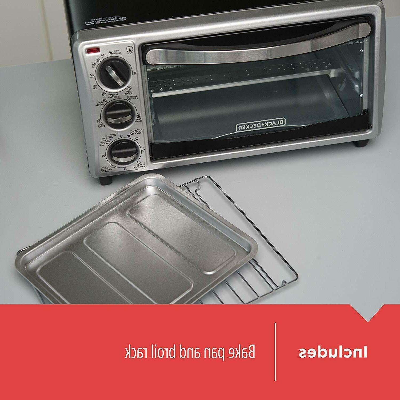 Black Decker 4-Slice Toaster Oven,