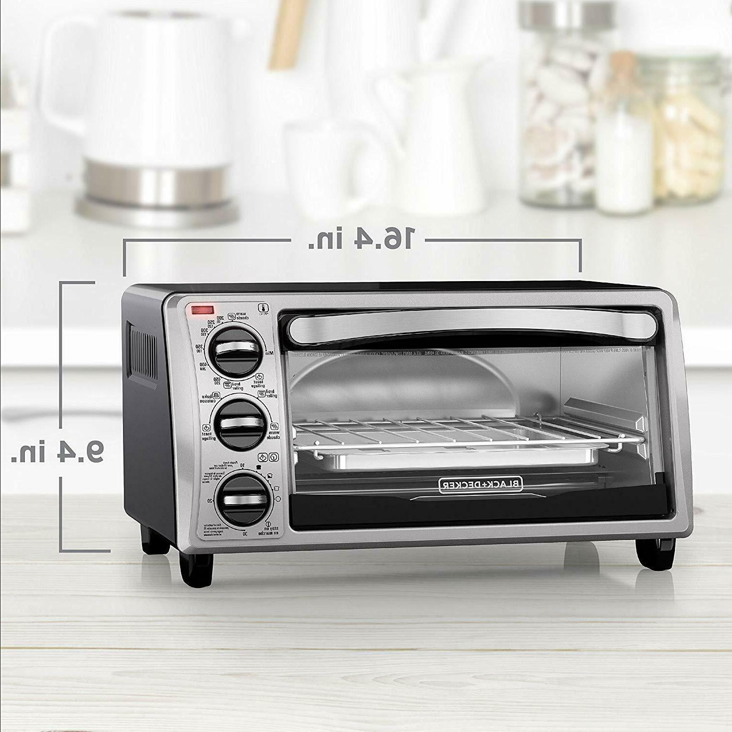 Black and Decker TO1313SBD 4-Slice Toaster