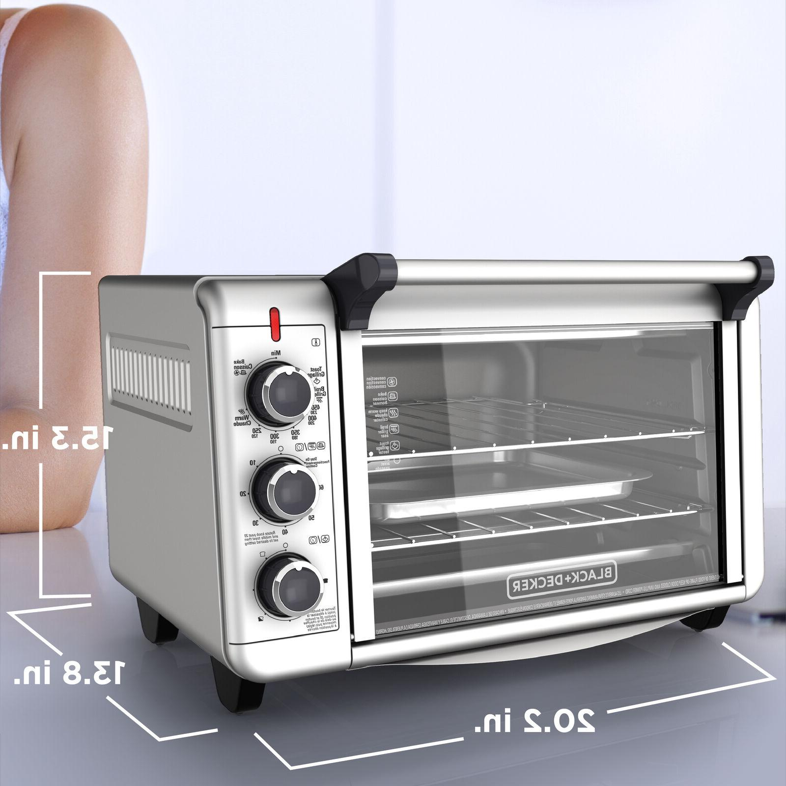 BLACK+DECKER 6-Slice Countertop Toaster Oven - Silver