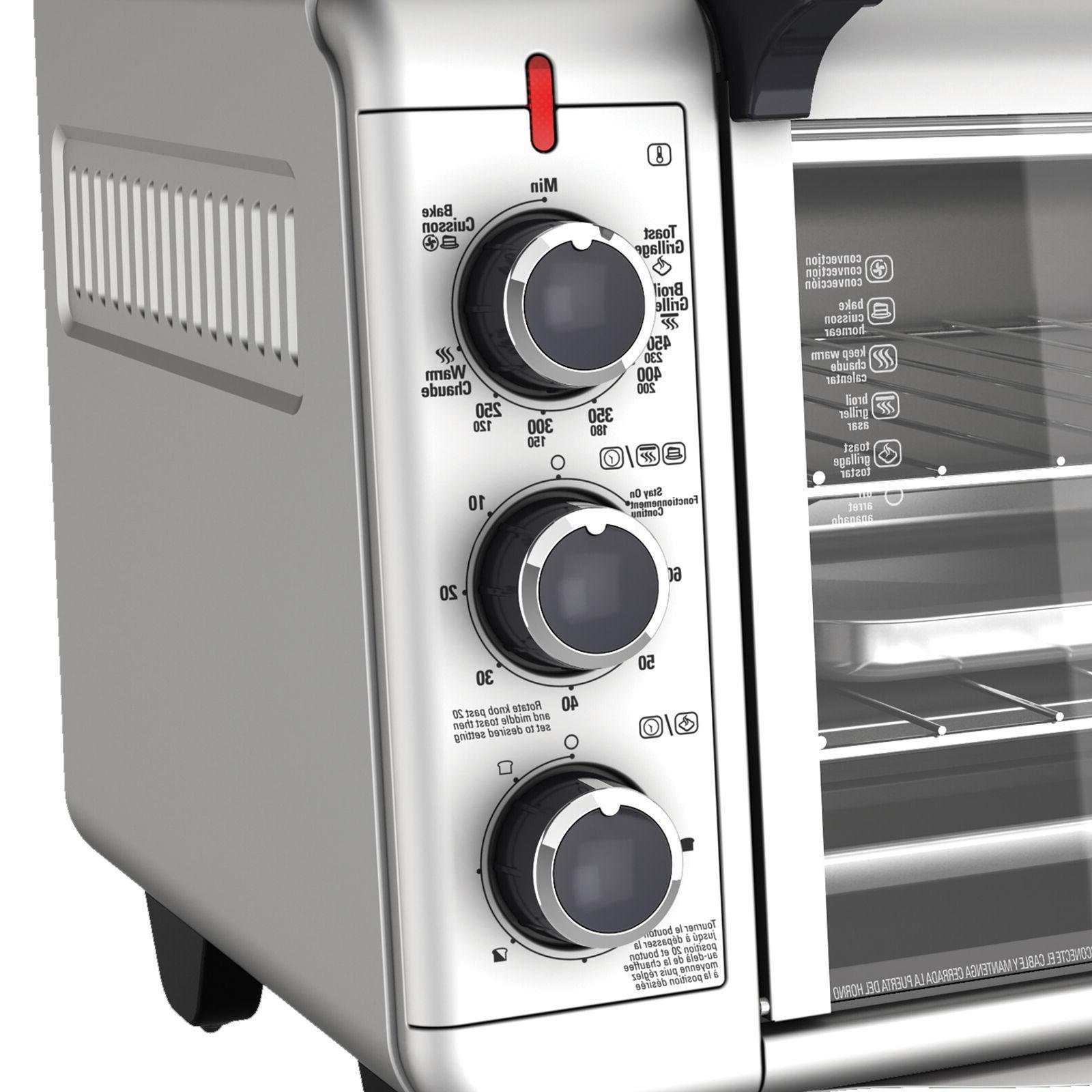 BLACK+DECKER TO3000G Countertop Toaster Silver