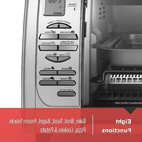 BLACK+DECKER Countertop Oven, Stainless Steel,