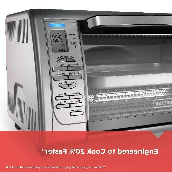 BLACK+DECKER Toaster Oven, Stainless CTO6335S