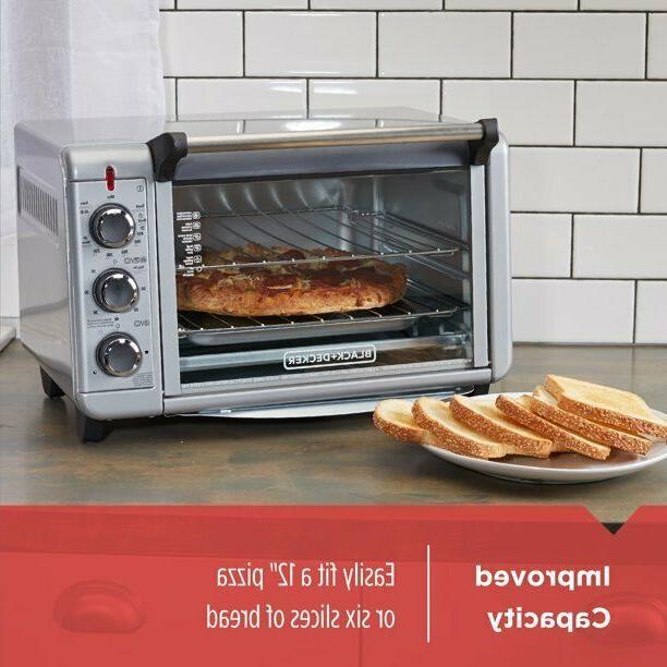 BLACK+DECKER Silver Toaster Pizza