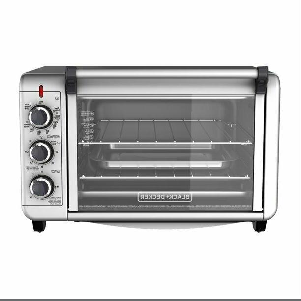 black decker silver convection 2 shelf toaster