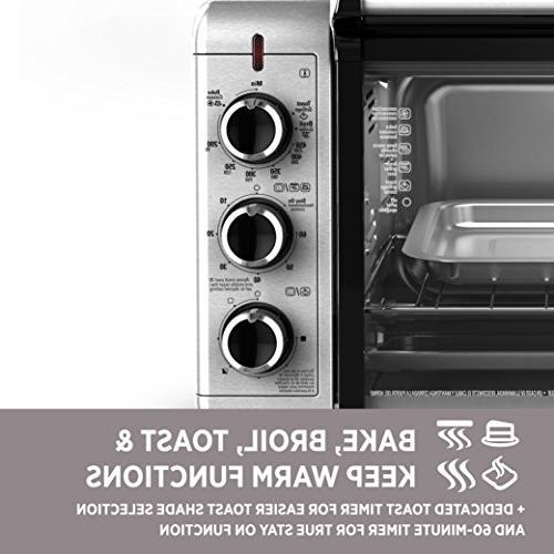 Black Countertop Toaster Silver