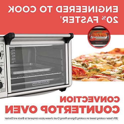 Black Countertop Toaster Oven, Silver