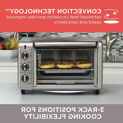 Black & Toaster Oven Convection, Bake, Keep Warm -