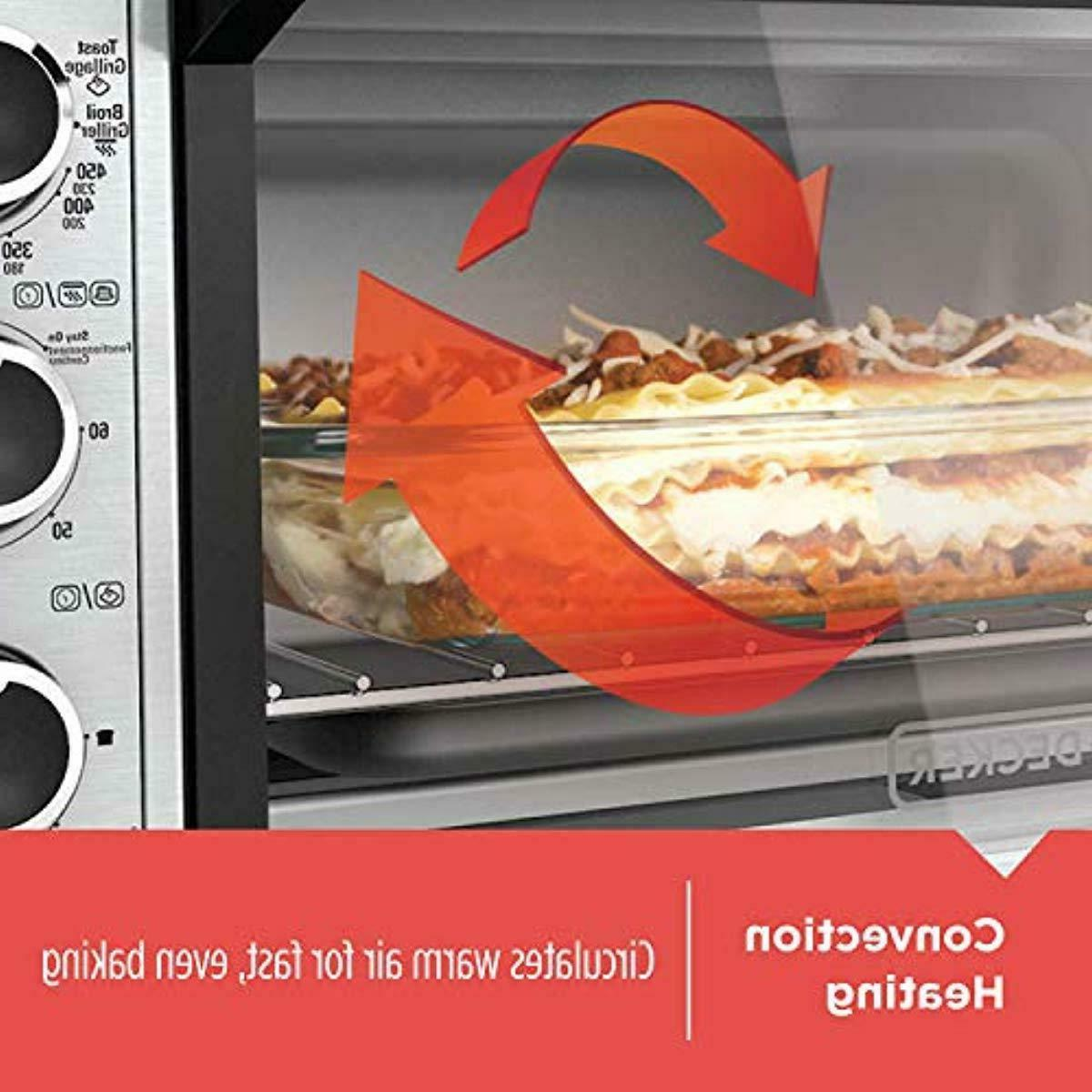 BLACK+DECKER TO3240XSBD Wide Convection Countertop Oven, I