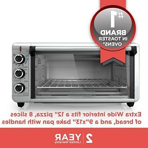 BLACK+DECKER TO3240XSBD 8-Slice Wide Countertop Oven, I