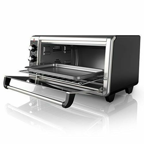 BLACK+DECKER 8-Slice Wide Convection Toaster Oven,