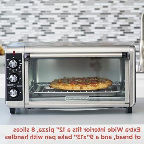 BLACK+DECKER TO3250XSB 8-Slice Wide Countertop Oven,