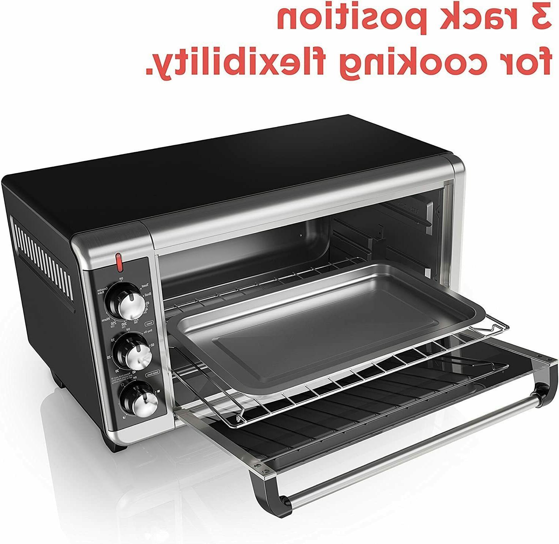 BLACK+DECKER TO3250XSB Wide Convection Countertop Oven