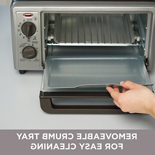 Black Oven/Broiler 4 Slice, In. Pizza Stainless Black