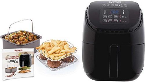 brio black digital air fryer 3 quart