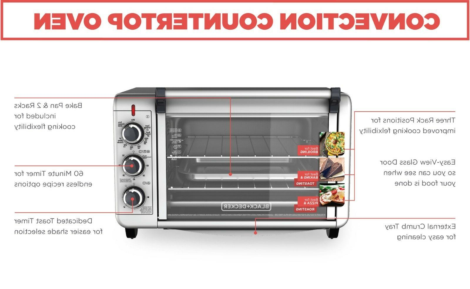 Convection Countertop Toaster Baking Eating Food Fast