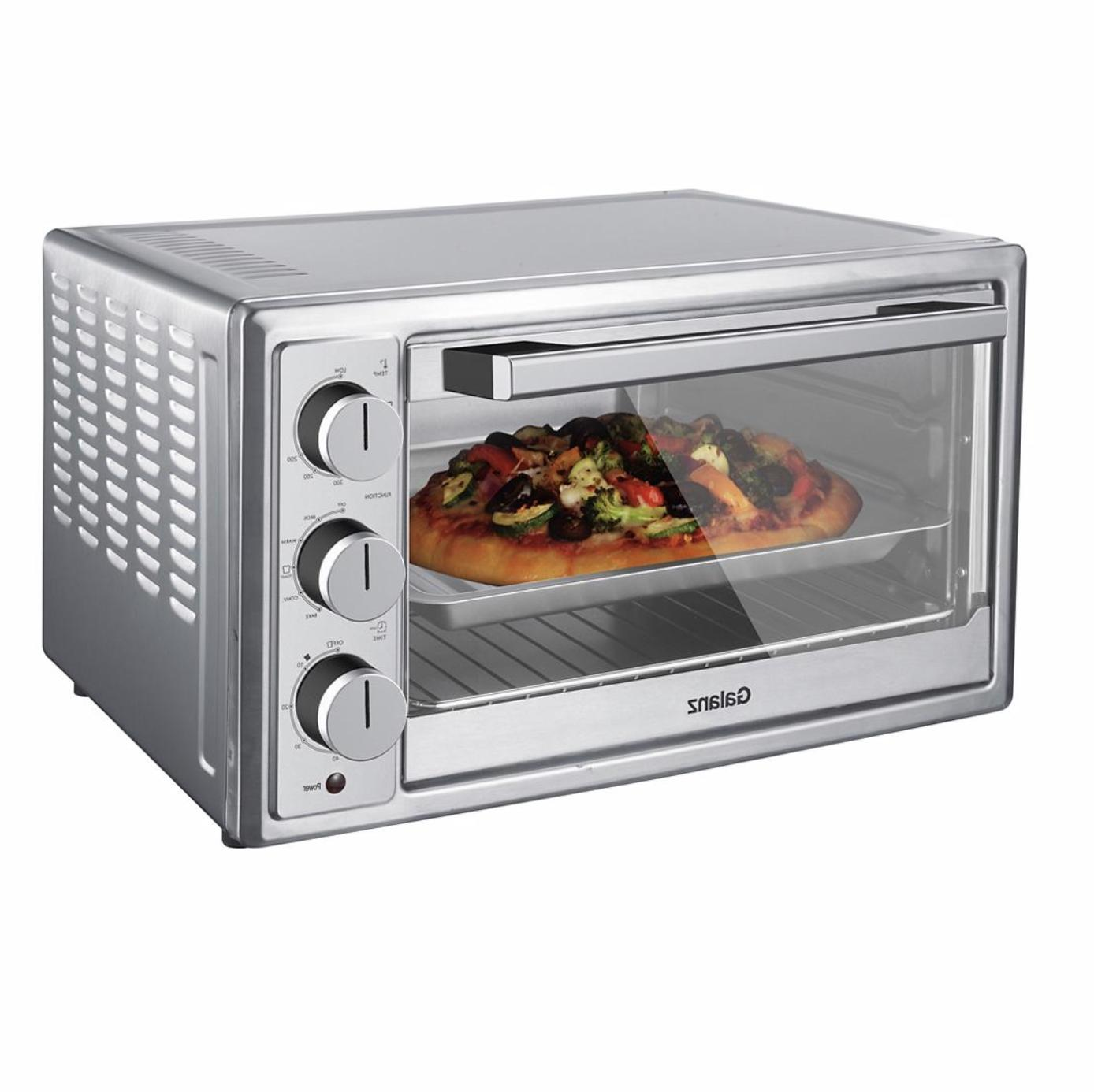 Convection Toaster Oven Slice Stainless Steel Family-Size Pizza