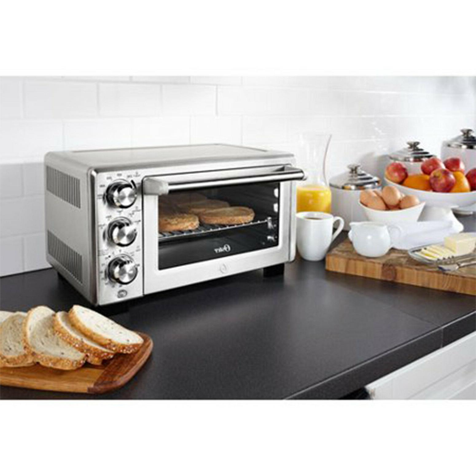 Convection 6 Slice Brushed Stainless Family-Size