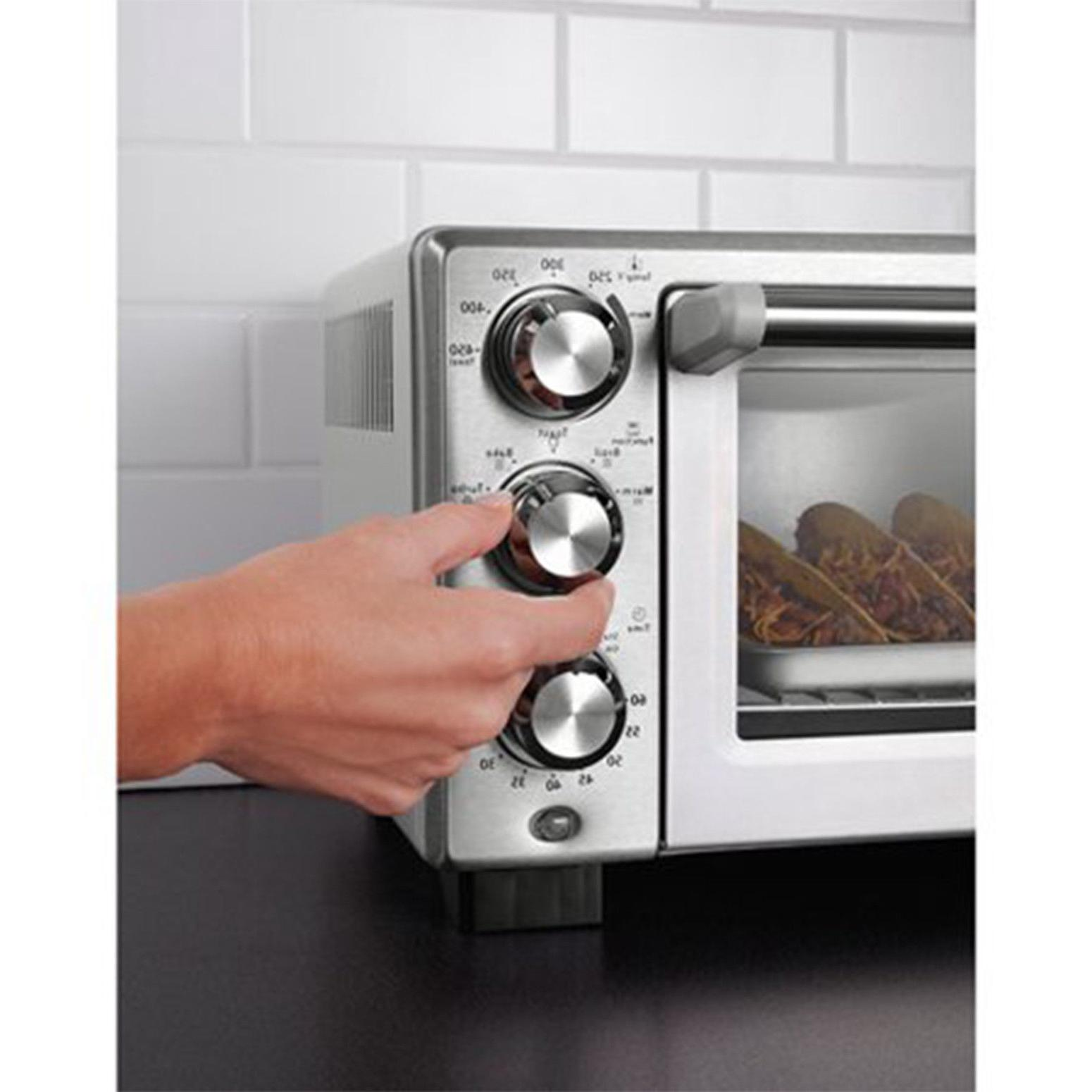 Convection Oven 6 Slice Brushed Stainless Family-Size Cook