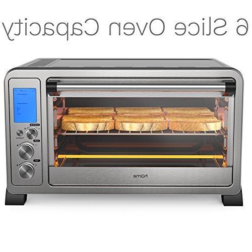 hOmeLabs Convection Stainless 10 Cooking Digital Display - Broil Rack, Bake Pan, Rotisserie Crumb