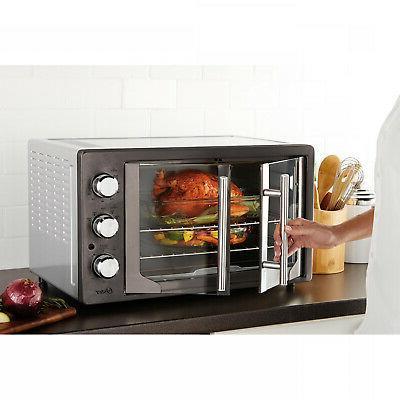 convection toaster oven broiler 2 door durable