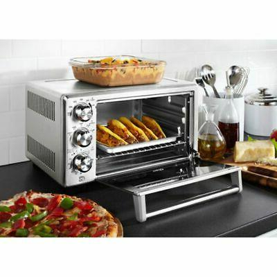 Oster Countertop 6-Slice Turbo Convection Steel