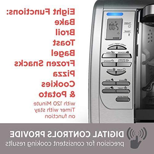 BLACK+DECKER Countertop Toaster Oven, Silver,
