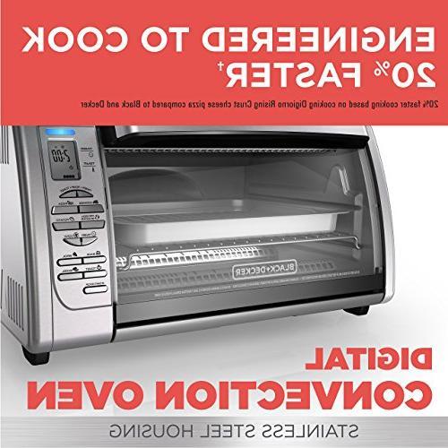 BLACK+DECKER Toaster Oven, Silver,