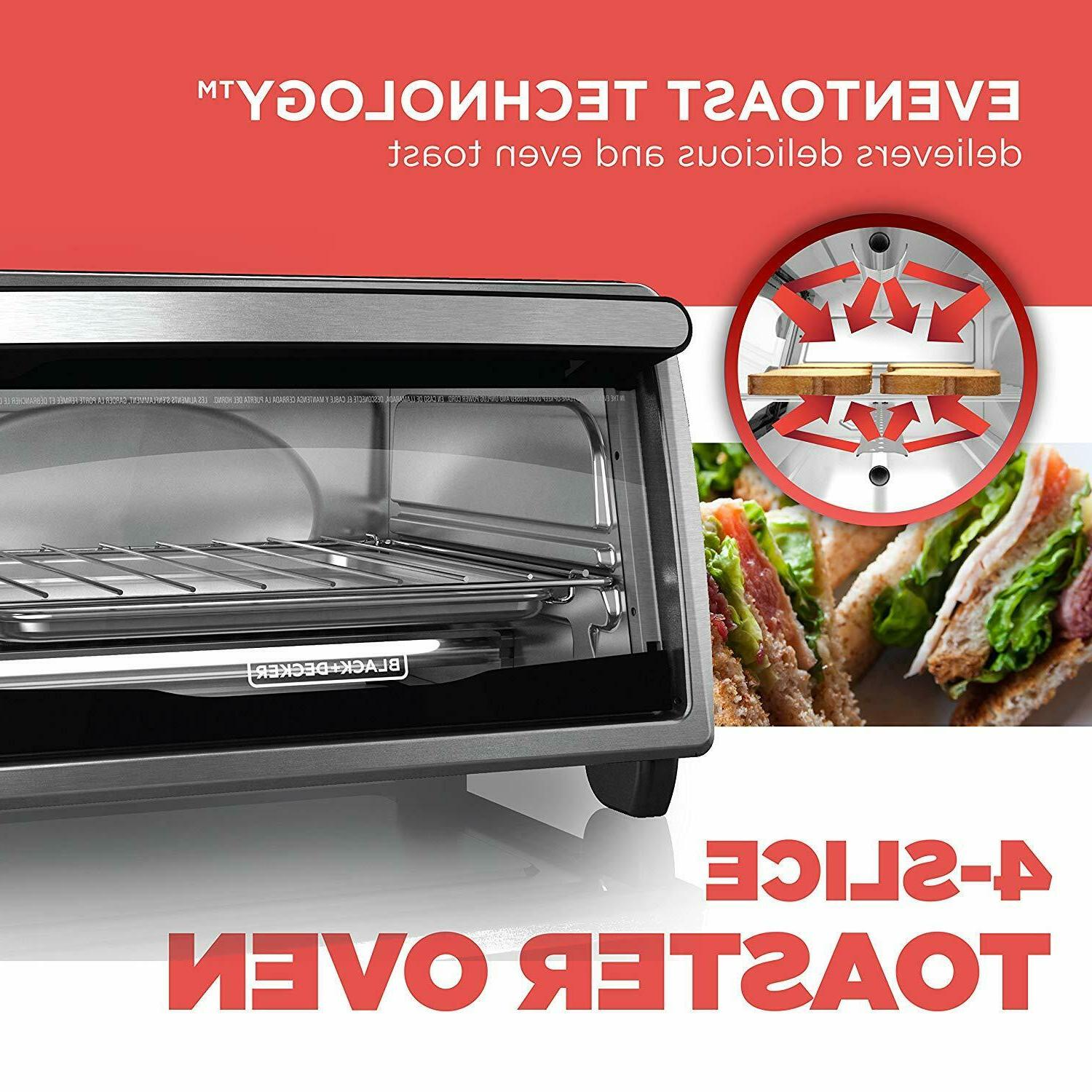 DECKER Toaster Oven Stainless Steel Black