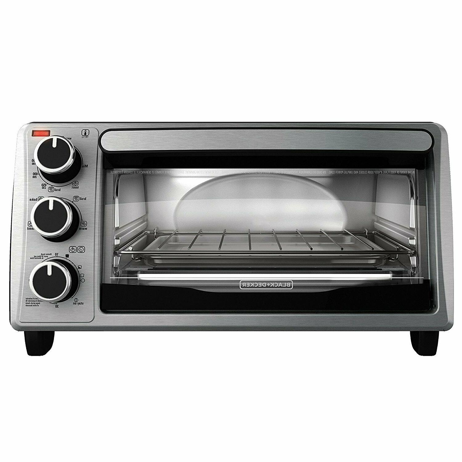 DECKER TO1303SB 4-Slice Toaster Oven - Black