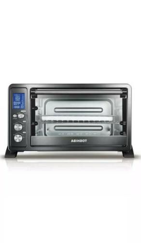 digital 6 slice black convection toaster oven