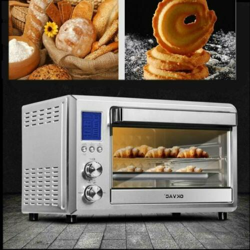 digital convection toaster oven 6 slice lcd