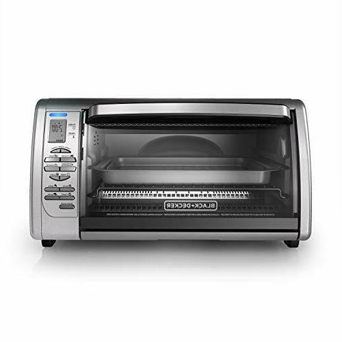 Digital Convection Toaster Oven, Stainless BLACK+DECKER Countertop